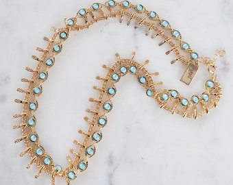 The Serpentine Double Layer Choker Set, Dangle choker, dangle necklace, gypset, boho necklace, double layer necklace, double choker,