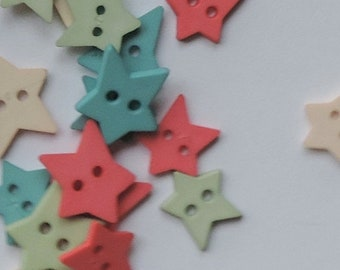 SALE Star Buttons Assorted Citrus Color Package by Favorite Findings