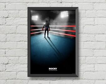 Rocky movie poster sylvester stallone art print alternative movie poster home decor