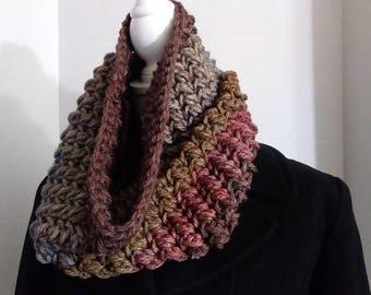 Cowl Scarf, Colorblock Chunky Cowl, Crochet Scarf, Chunky Scarf,Cowl Scarf Crochet Cowl, Colorful Scarf, Crochet Scarf, Chunky Scarf