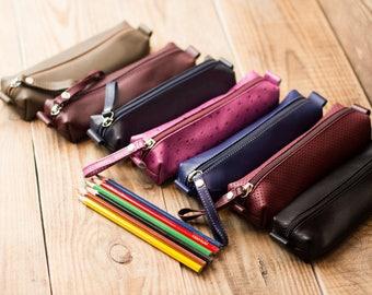 Pencil case / Leather Pencil case / Pen case / Personalized Pen holder / Personalized pencil case / Monogram pencil case / Cases