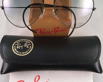 Vintage Ray Ban Bausch and Lomb Black Outdoorsman Gray ultra Gradient Fantasees 58mm
