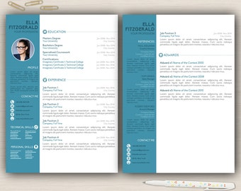 Resume template cover letter 2 page cv a4 usa letter resume template cover letter 2 page cv a4 usa letter resume desing creative resume professional resume template modern resume cv thecheapjerseys Choice Image