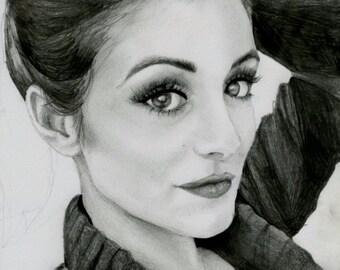 Custom 8X10 Drawing/ Pencil Portrait/ Illustration