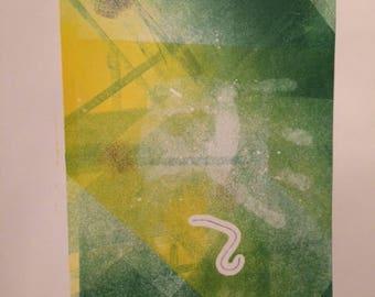 Tomorrow Fading Monotype Print