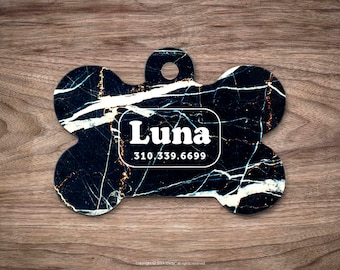 Dog Tag Marble Dog Tag for Collar Cute Pet ID Tag Custom Dog Name Tag Marble Puppy Tag Personalized Dog ID Tag Custom Pet Tag for Dog