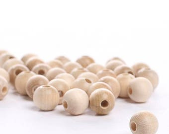 Round Unfinished Wood Beads a lot of sizes