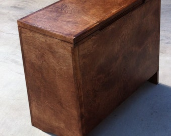 Edged Plywood Viking Style Storage Chest. 12 x 18 x 24