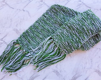 Long Tassel Scarf - Snow Covered Tree