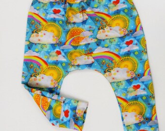 Rainbow baby cloud harems, rainbow slim fit harems,rainbow baby, baby  rainbow harems, cloud harems, rainbow slim fit harems, rainbow harems