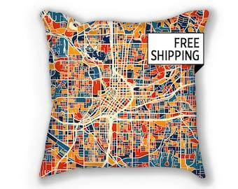 Atlanta Map Pillow - Georgia Map Pillow 18x18
