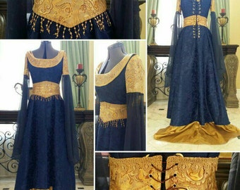 Royal Medieval Gown princess queen costume renaissance faire Halloween