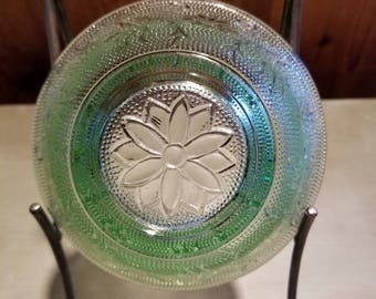 Sale ~ Vintage Sandwich Green Indiana Chantilly Green Individual Salad Bowl (4) Available