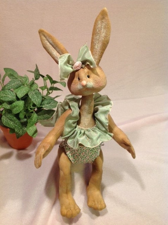 Isla Baby Bunny - Mailed Cloth Doll Pattern adorable 12in Girl Bunny Rabbit