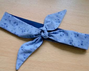Rockabilly Style Headscarf from Reclaimed Fabrics