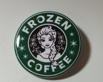 Frozen Elsa Arendelle Disney Starbucks Coffee Style  Pin Badge Button