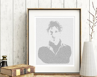 Dr Who Text Art, The Eighth Doctor Who Wall Art, Paul McGann Whovian Gift for Men, Sci Fi Print (US)