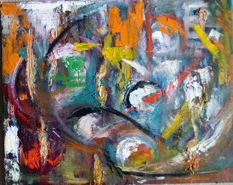 "Original Oil Painting, Abstract-Joe , 16""x20"", 180674"