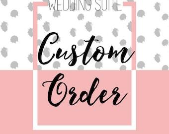 Custom Wedding Invitation Suite  - Design Fee & Final Digital Files {Printable Wedding Suite}