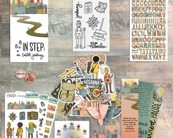 """ByTheWell4God - """"In Step: An Easter Journey"""" Devotional Kit for Bible Journaling - By Judi Allen"""