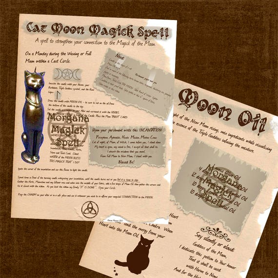 Cat Moon Magick Spell