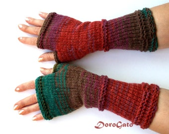 Knit Gloves Pattern, Fingerless Gloves Pattern, Glove Mittens Pattern, Knit Gloves, Instant Download, DoroGato, /6001/