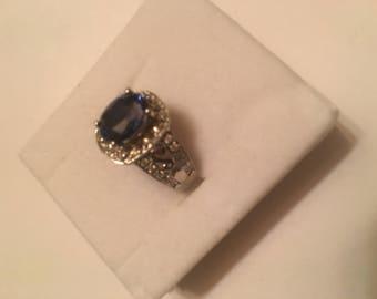 AAA+ 2.03ct Kashmir Blue Sapphire ring sz 6.75
