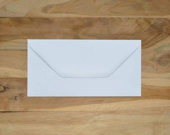 Enveloppe rectangle blanche (lot de 15)