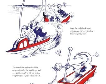 Beautiful, amazing Dr. Seuss print, The Secrets of the Deep a page from story,  Large print 9 x 12 inches