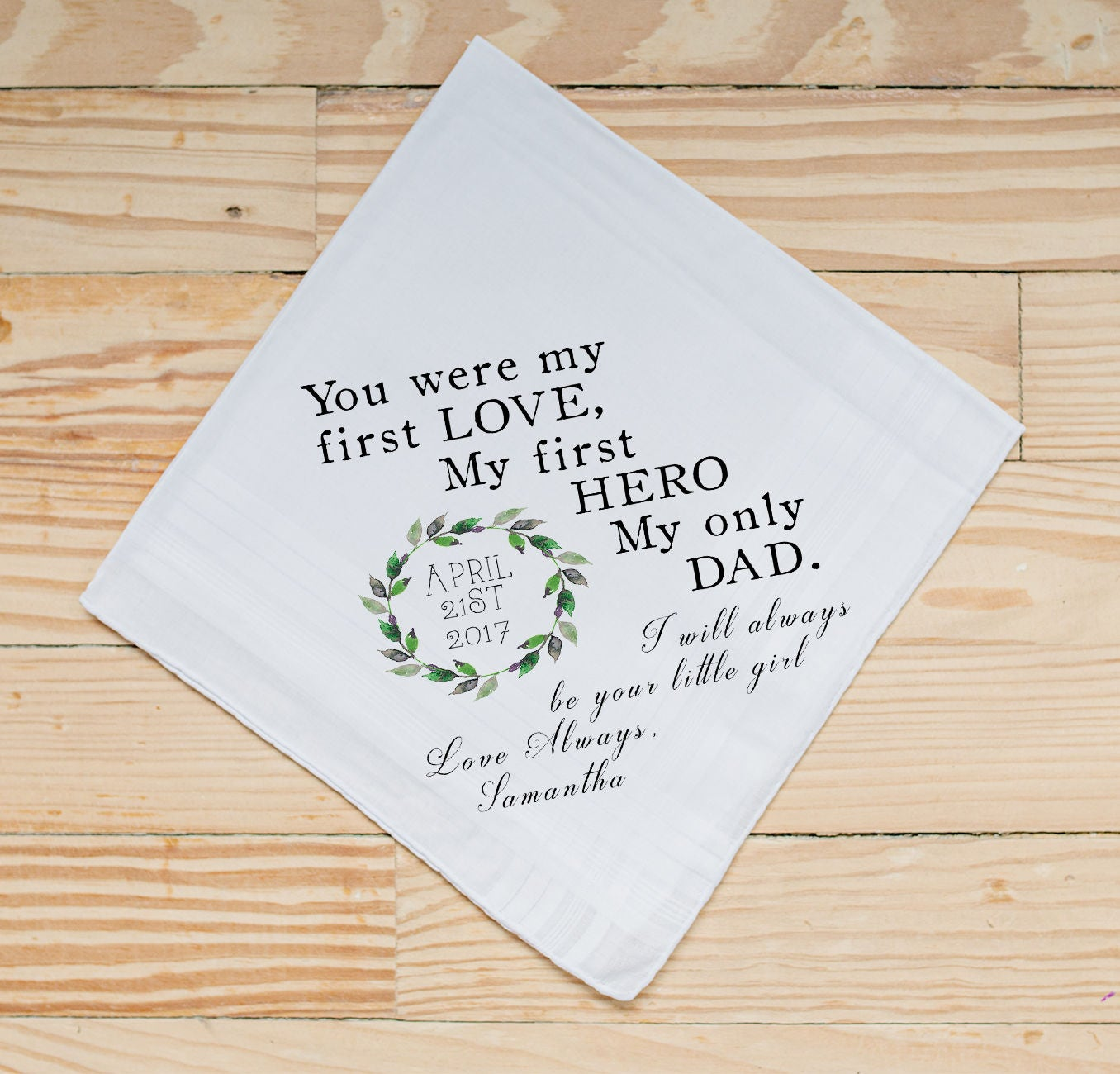 Wedding Handkerchief Father Of The Bride Handkerchief Dad