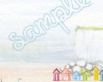 Beach Writing Paper and Envelope Printable