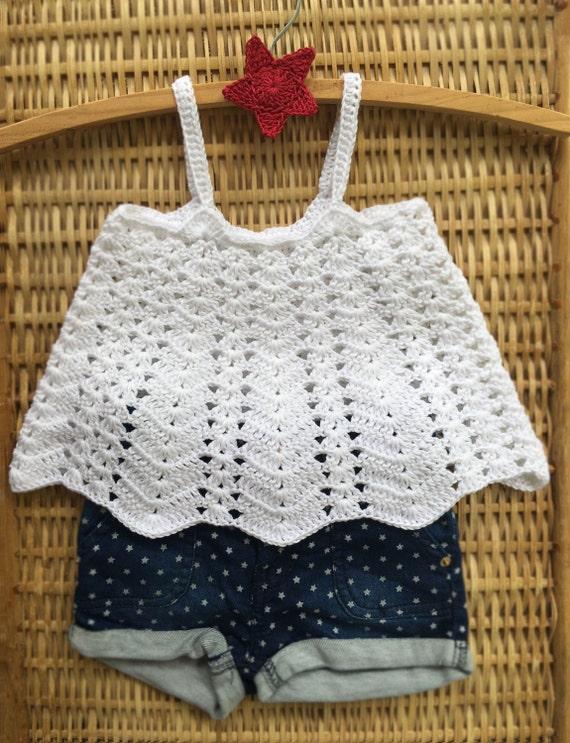 Crochet Pattern Ventura Swing Tank Top Baby Toddler Childrens Sizes