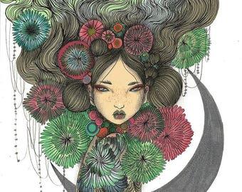 Hymn original A4 illustration