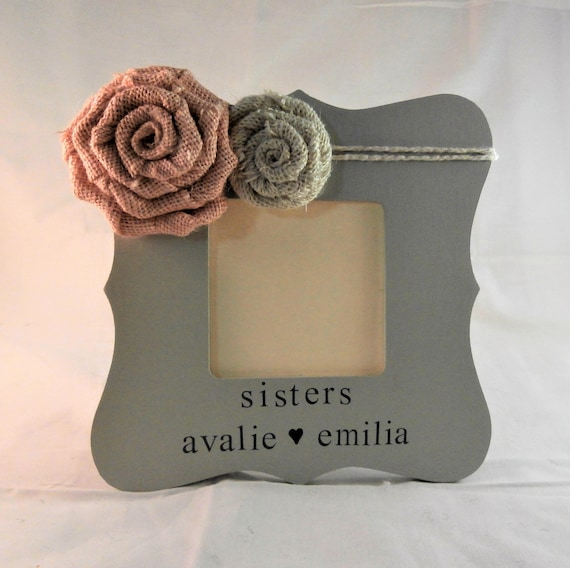 Personalized sister frame big sister little sister gifts cute