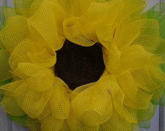 Daffodil Flower Wreath, Yellow Flower Wreath, Flower Wreath, Spring Wreath, Summer Wreath, Front Door Wreath, Flower Decor, Front Door, Home
