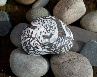 Hand painted Story Stone