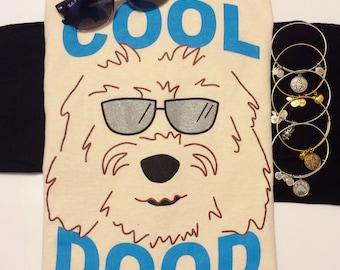 """T-Shirt """"Cool Dood"""" Goldendoodle - Labradoodle Dog Design"""