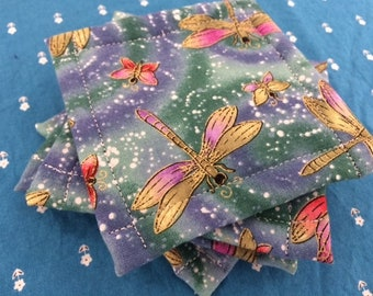 Urban UnSponge, Dish Cloth, Eco Friendly Reusable Washable Sponge, Bright and Colorful Dragonflies, by CHOW with ME