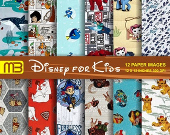 Disney  digital paper pack - printable papers - Instant download - We have a lot of Disney,s digital papers.Please look them.