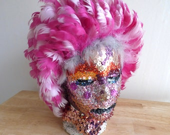 Andy Warhol Inspired Sequined Head