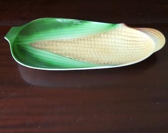 Vintage maïs service assiette, plateau de maïs, maïs Retro serveur