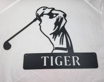 Metal Golfer Wall Art