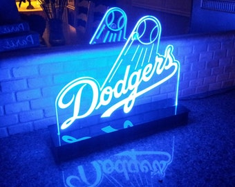 Los Angeles Dodgers MLB Multi color LED Sign with Remote Control -  Made In USA!  -  Great for a Bar - Pub - Man Cave - Game Room - Club
