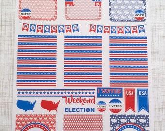 Election // Republican // Democrat // Mini Weekly Kit (Set of 41) Item #285