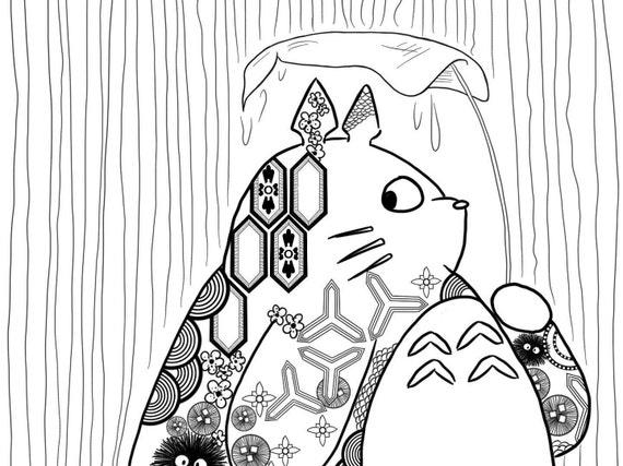 Tolle Mein Nachbar Totoro Malvorlagen Und Ausdrucke Galerie ...