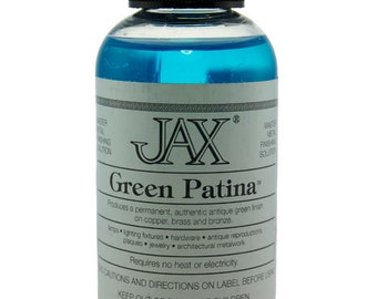 Green Patina For Copper,Brass, And Bronze 2 oz Bottle By Jax