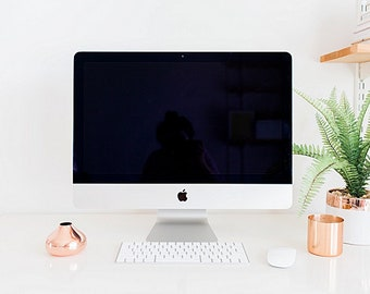 Styled Desktop Imac Stock Photography