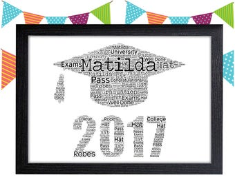 Personalized Gift Class of 2018 Gift Graduation Gift Graduation Wall Art Wall Prints Wall Art Wall Decor Personalised Gift Wall Art Prints