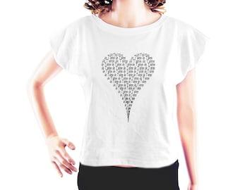 French Je T'aime tshirt heart shirt cute tshirt funny shirt instagram shirt cool tee trendy shirt women top crop top crop t shirt  size S