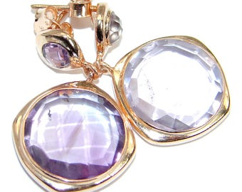 Pink Amethyst Sterling Silver Earrings - weight 8.70g - dim L - 1 3 8, W - 3 4, T - 3 16 inch - code 14-wrz-17-54